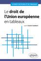 Couverture de l'ouvrage Le droit de l'union europeenne en tableaux