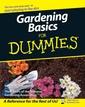 Couverture de l'ouvrage Gardening Basics For Dummies