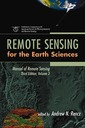 Couverture de l'ouvrage Remote sensing for the earth sciences : manual of remote sensing vol 3, 3rd ed 1999