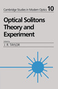Couverture de l'ouvrage Optical solitons : Theory & experiment