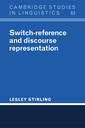 Couverture de l'ouvrage Switch-reference and discourse representation