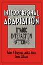 Couverture de l'ouvrage Interpersonal adaptation dyadic interaction patterns