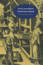 Couverture de l'ouvrage Press censorship in elizabethan england