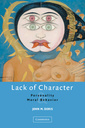 Couverture de l'ouvrage Lack of character personality and moral behavior