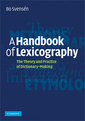Couverture de l'ouvrage A handbook of lexicography: the theory and practice of dictionary-making