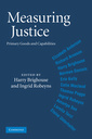 Couverture de l'ouvrage Measuring justice: primary goods and capabilities