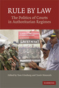 Couverture de l'ouvrage The politics of courts in authoritarian regimes