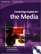 Couverture de l'ouvrage Cambridge English for the media student's book with audio CD