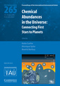 Couverture de l'ouvrage Chemical abundances in the universe (iau s265): connecting first stars to planets