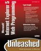 Couverture de l'ouvrage Internet explorer 5 web programming unleashed (book/CD)