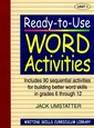 Couverture de l'ouvrage Ready to use word activities: unit 1