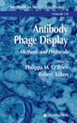 Couverture de l'ouvrage Antibody Phage Display : Methods and Protocols (Methods in Molecular Biology, Vol. 178)