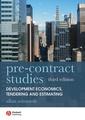 Couverture de l'ouvrage Pre-contract studies: development economics, tendering and estimating