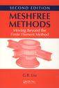 Couverture de l'ouvrage Meshfree methods. Moving beyond the finite element method