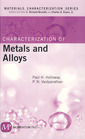 Couverture de l'ouvrage Characterization of metals and alloys
