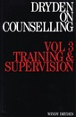 Couverture de l'ouvrage Dryden on counselling: training and supervision