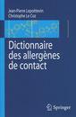 Couverture de l'ouvrage Dictionnaire des allergènes de contact