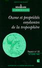 Couverture de l'ouvrage Ozone et propriétés oxydantes de la troposphère (rapport de l'Académie des sciences N°30)