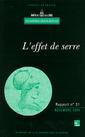 Couverture de l'ouvrage L'effet de serre (Rapport de l'Académie des sciences N°31)