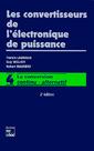 Couverture de l'ouvrage Les convertisseurs de l'électronique de puissance