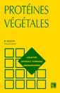 Couverture de l'ouvrage Protéines végétales, 2e éd.