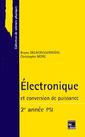 Couverture de l'ouvrage Electronique et conversion de puissance 2ème année PSI