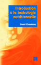 Couverture de l'ouvrage Introduction à la toxicologie nutritionnelle