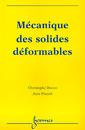 Couverture de l'ouvrage Mécanique des solides déformables