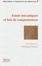 Couverture de l'ouvrage Essais mécaniques et lois de comportement