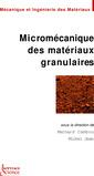 Couverture de l'ouvrage Micromécanique des matériaux granulaires