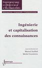 Couverture de l'ouvrage Ingéniérie et capitalisation des connaissances