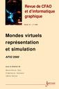 Couverture de l'ouvrage Mondes virtuels, représentation et simulation