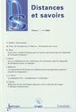 Couverture de l'ouvrage Distances et savoirs Vol.1 N° 1/2003