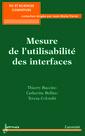 Couverture de l'ouvrage Mesure de l'utilisabilité des interfaces