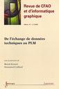 Couverture de l'ouvrage De l'échange de données techniques au PLM (Revue de CFAO et d'informatique graphique Vol. 18 N° 4/2003)