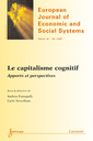 Couverture de l'ouvrage Le capitalisme cognitif : apports et perspectives (European Journal of Economic and Social Systems Vol. 20 N° 1/2007