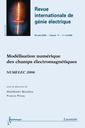 Couverture de l'ouvrage Modélisation numérique des champs électromagnétiques : NUMELEC 2006 (Revue internationale de génie électrique-RS série RIGE Vol.11 N° 2-3 mars-juin 2008)