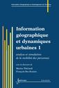 Couverture de l'ouvrage Information géographique et dynamiques urbaines 1