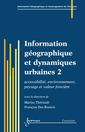 Couverture de l'ouvrage Information géographique et dynamiques urbaines 2