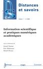 Couverture de l'ouvrage Information scientifique et pratiques numériques académiques (Distances et savoirs Vol. 7 n° 3/Juillet-Septembre 2009)