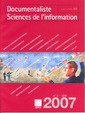 Couverture de l'ouvrage Documentaliste Sciences de l'information Vol. 44 N° 3 Juin 2007
