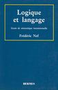Couverture de l'ouvrage Logique et langage