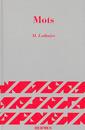 Couverture de l'ouvrage Mots Mélanges offerts à M.P Schutzenberger