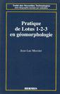 Couverture de l'ouvrage Pratique de Lotus 1.2.3 en géomorphologie