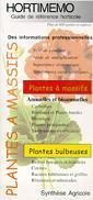 Couverture de l'ouvrage Hortimémo : Plantes à massifs (Guide de référence horticole)