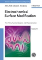 Couverture de l'ouvrage Electrochemical surface modification: Thin films, functionalization & characterization