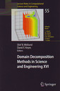 Couverture de l'ouvrage Domain decomposition methods in science & engineering XVI (Lecture notes in comp utational science & engineering, Vol. 55)