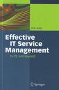 Couverture de l'ouvrage Effective IT service management: To ITIL and beyond