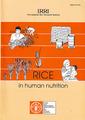 Couverture de l'ouvrage Rice in human nutrition