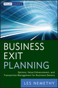 Couverture de l'ouvrage Business exit planning